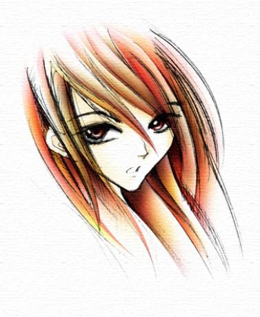 manga girl